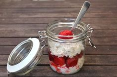 Overnight Oats mit weniger als 300 kcal cheesecake-oats