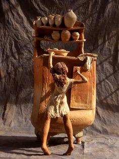 Fanny Ferré, sculpteur. terre cuite - échelle humaine #girl #sculpture