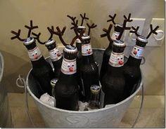 cute little reindeer drinks
