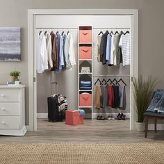 "ClosetMaid SuiteSymphony 72""W - 108""W Closet System with 2 Bins"