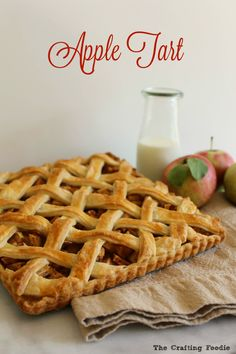 This Apple Tart is made with a flaky, all-butter crust that envelopes juicy honey crisp apples that are spiced with cinnamon, nutmeg and a touch of sugar. The Crafting Foodie for OHMY-CREATIVE.COM
