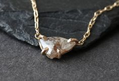 Alexis Russell - Simple Diamond Slice Necklace
