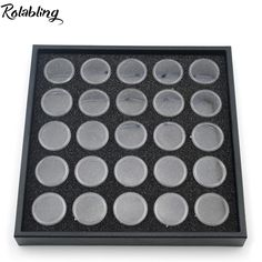 Rolabling New Arrival 25 Pots Nail Art Display Box For Show Nail Decoration Products Tool Nail Empty Bottle Nail Display #Affiliate