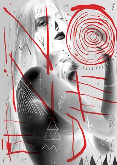 NO NEED by The Black Math, via Behance #art #collage #paint #print #illustration #red