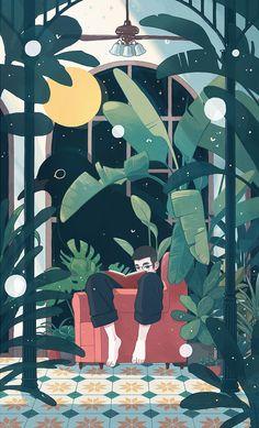 63 ideas music lover illustration artworks for 2019 Plant Illustration, Graphic Design Illustration, Digital Illustration, Graphic Art, Posca Marker, Art Et Design, Aesthetic Art, Art Inspo, Fantasy Art