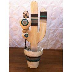 cactus madera - Shoe Tutorial and Ideas Cactus Craft, Cactus Decor, Deco Paint, Bois Diy, Southwest Decor, Rustic Crafts, House Ornaments, Home Crafts, Diy Crafts