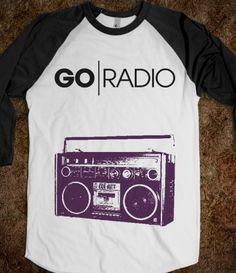 Go Radio Band Baseball Tee Printed on Skreened Long Sleeve Radio Band, Cool Jazz, Band Camp, Band Merch, Grunge Fashion, Music Is Life, Bro, Cloths, Fun Stuff