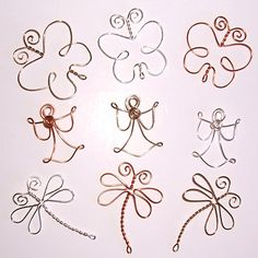 Dragonflies Angels and Butterflies . Wire Embellishments for Scrapbooks, Cards and Crafting
