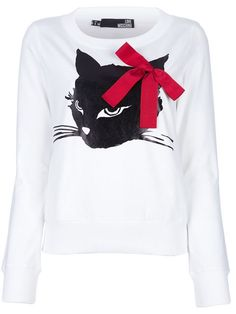 Shop Love Moschino cat print jumper in  from the world's best independent boutiques at farfetch.com. Over 1000 designers from 300 boutiques in one website.