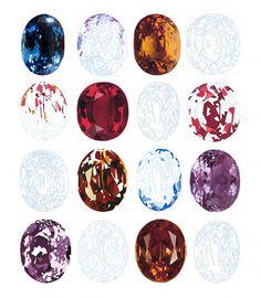 Elizabeth Corkery gemstone prints