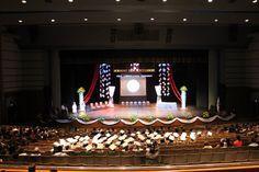 Graduation Stage Design - Snowflakes Chandelier