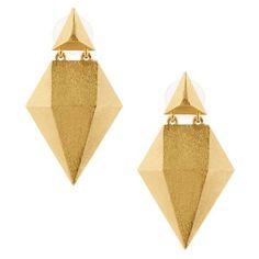 Stephanie Kantis High Tide Drop Earrings ❤ liked on Polyvore featuring jewelry, earrings, 24k earrings, yellow drop earrings, yellow jewelry, 24-karat gold jewelry and drop earrings