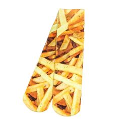 All Over Print French Fries 3D Print Socks Long Casual Skateboard Sport Socks Men Women Food Design Socks Street Rock Style