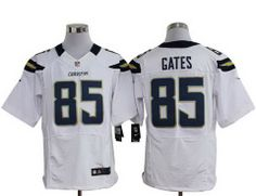 Nike San Diego Chargers 85  Antonio Gates White Elite Nike NFL Jerseys  Cardinals Jersey 7a632c396