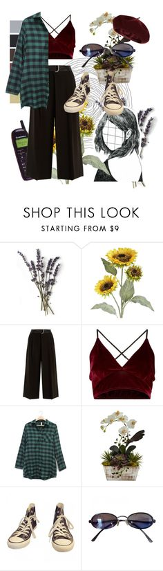 """R A I N Y  D A Y ☔️"" by cluelesspeach ❤ liked on Polyvore featuring Pier 1 Imports, Weekend Max Mara, Nearly Natural, Converse, Fendi and Accessorize"