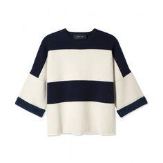 Derek Lam Striped Sweater - Shop outfits perfect for a summer date:  http://www.harpersbazaar.com/fashion/fashion-articles/summer-2014-date-outfits