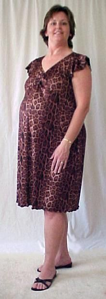 Plus Size Maternity Leopard dress