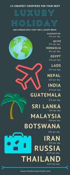 #infographic Looking for luxury for less? Here's our list of the 14 cheapest countries for luxury holiday. Don't book your next trip before reading.