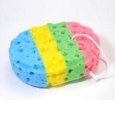Buy Rainbow Color Kids Bath Sponge Bath Scrubber Shower Spa Body Cleaning Scrub Bath Ball Shower Wash Body Spa for baby adult Body Spa, Bath And Body, Body Sponge, Cells Activity, Bath Sponges, Freckle Face, Bath Brushes, Kids Bath, Bathroom Accessories