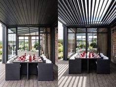 #Pergola Wallis & Outdoor de Profils systemes. Consultez nos installateurs de pergolas alu à lames orientables sur http://www.avantages-habitat.com