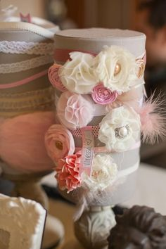 Make baby girl a headband at her baby shower... Love this!