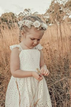 Alora Cream Flower Crown Buy A Gift Voucher, Baby Flower Crown, Fairy Hair, Baby Girl Accessories, Cream Flowers, Party Dress, Girl Outfits, Flower Girl Dresses, Ivory