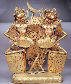 Citipati- dharma protectors who bring wealth, protection from enemies and evil spirits, and freedom from fear