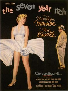 """THE SEVEN YEAR ITCH"" (1955) movie poster. A Billy Wilder film."
