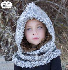 Hey, I found this really awesome Etsy listing at https://www.etsy.com/listing/205398422/grey-chunky-knit-hood-child-infant