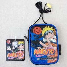 Naruto Uzumaki Pouch Mini Bag w/Card Holder POPY 2006 JAPAN ANIME MANGA JUMP