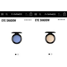 "MAC Shadows 2 authentic Mac eyeshadows. Colors are ""nylon"" and ""moons reflection"". gorgeous colors. I used the blue one once, and the pale one a handful of times. both in absolutely amazing condition! Make an offer: no lowballing! Bundle to save even more and receive free gifts!! NO TRADES SO PLEASE DON'T ASK MAC Cosmetics Makeup Eyeshadow"