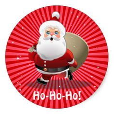 """50% OFF TODAY ONLY! Use CODE: """"ZWEEKOFDEALS"""" --- Expires on November 27, 2014 at 11:59PM PT --- Custom Santa Claus Stickers"""