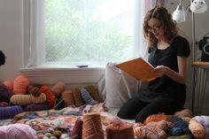 Jo Hamilton in her studio