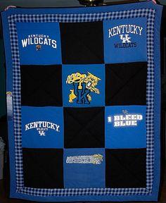 University of Kentucky T-Shirt Quilt by LabradorCrafts on Etsy ... : university of kentucky quilt - Adamdwight.com