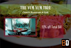 Yum Yum Tree offers a blend of Contemporary & Chinese Cuisine as well as Signature Oriental Street Food along with 15% Off Total Bill  Book now for free at www.bookingdiva.com Call us: 9555557585  #BookingDiva.