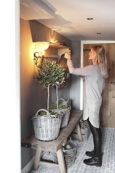 7 alternatives to the traditional Christmas tree Living Country Style - Christmas tree alternative olive trees - Alternative Christmas Tree, Belgian Style, Living Styles, Country Chic, Cozy House, Decoration, Home Remodeling, Beautiful Homes, House Design