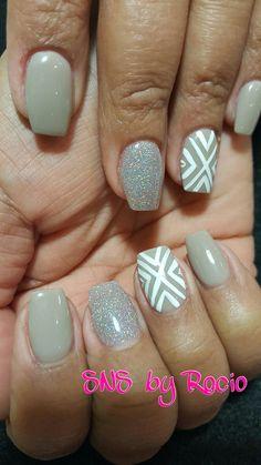 SNS nails with designs by Rocio !