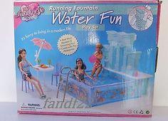 *NEW* 1:6 Gloria Barbie Licca Doll Furniture Water Fun Play Set