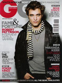 Robert Pattinson GQ | Robert Pattinson pour GQ Afrique du Sud Juin