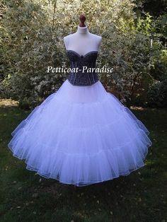 Vestido enagua tul de novia