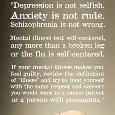 If mental illness makes you feel guilty
