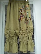 MAGNOLIA PEARL VINTAGE LINEN HAND EMBROIDERED BLOOMERS - PANTS