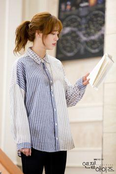 SBS Angel Eyes - Goo Hye Sun practices her lines.