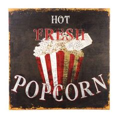 Hot Popcorn Canvas Print | Kirkland's    Saw this at an open house on Sunday in the media room, and love it!