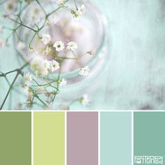 Try Stampin' Up! Colors:  Wild Wasabi, Pear Pizzazz, Smoky Slate, Soft Sky, Coastal Cabana