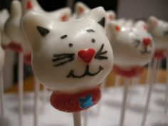 Cat cake pops! Fun to use with my cake pop maker :)