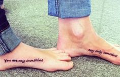 You are my sunshine tattoo. Wanna get this with my big sis!!! <3