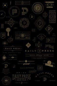 """Daily Press Identity on Beha…"" in Branding Brand Identity Design, Graphic Design Typography, Branding Design, Logo Design, Gig Poster, Web Design, Print Design, Layout Design, Desgin"