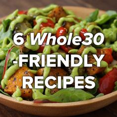 6 Whole30-Friendly Recipes #whole30 #healthy #salad #simple
