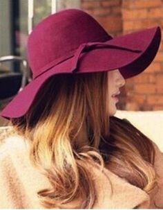 9f12a82b3e4 FLOPPY WIDE BRIM HAT in RED WINE Fedora Fashion